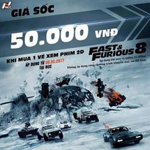 Picture for category Đồng giá Fast & Furious 50.000đ/ Vé 2D