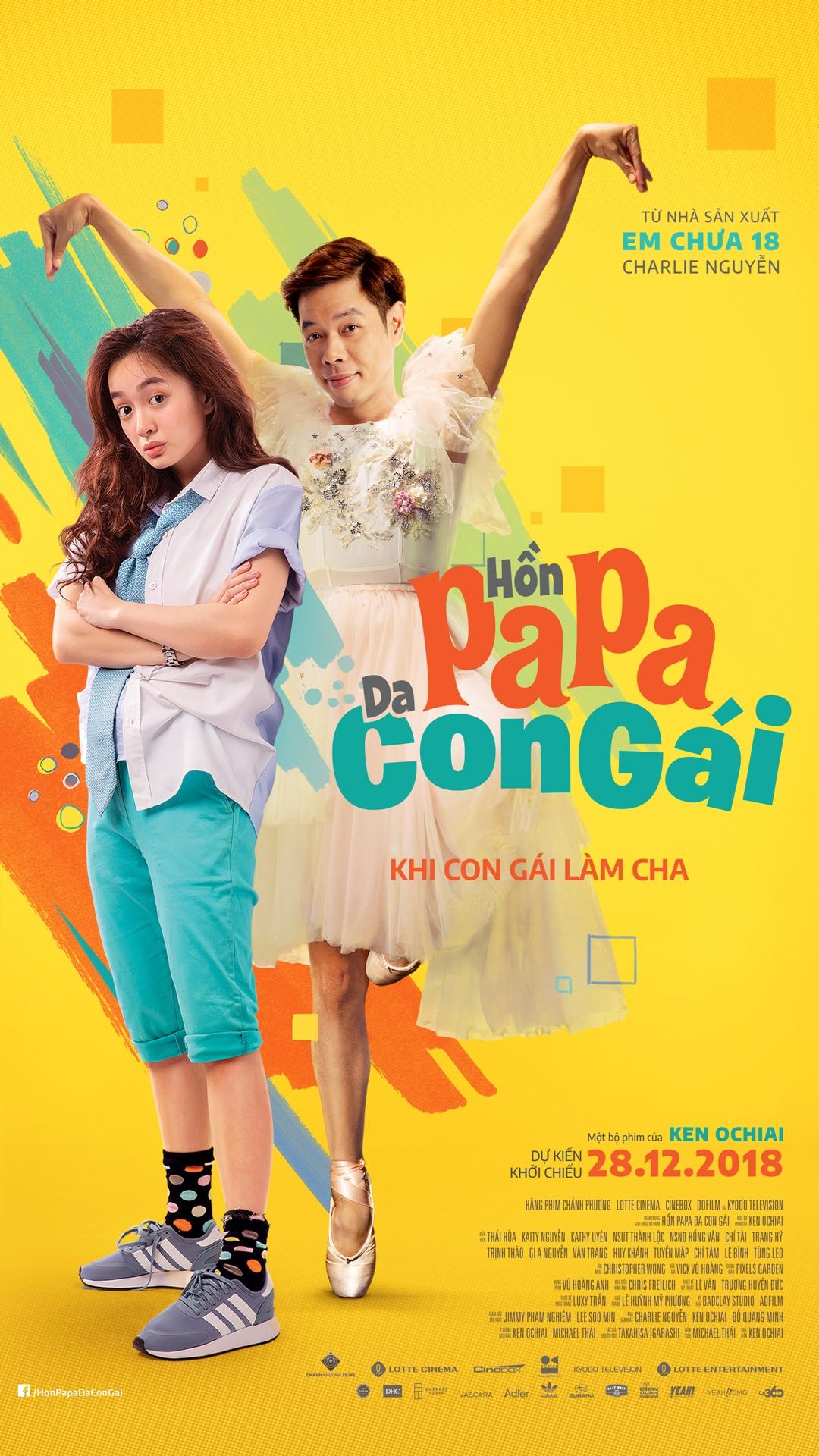 """Picture for category Khởi chiếu sớm bộ phim hài Việt """"Hồn papa, da con gái"""""""