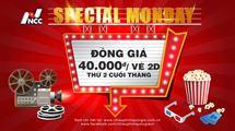 Picture for category SPECIAL MONDAY - ĐỒNG GIÁ 40.000Đ/VÉ 2D THỨ 2 CUỐI THÁNG (TỪ 01/01/2021)